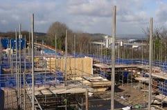 建筑工地在英国 免版税库存照片