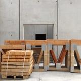 建筑工地栈木头 库存照片