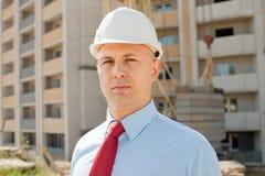 建筑工地的白领工人 库存照片