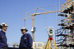 建筑工程师和建筑 免版税图库摄影