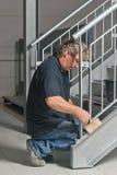 建筑工程师楼梯 库存图片