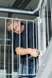 建筑工程师楼梯 免版税图库摄影
