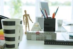 建筑师书桌材料 库存照片