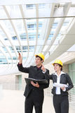 建筑师人妇女 免版税库存照片