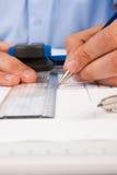 建筑师体系结构计划工作 免版税图库摄影