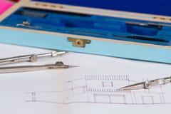 建筑师在工作 免版税库存照片