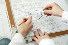 建筑师工作 库存照片