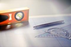 建筑师工具 免版税库存图片