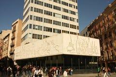建筑师巴塞罗那学院frize毕加索s 免版税库存图片