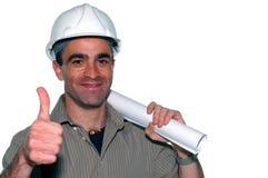 建筑师年轻人 免版税库存图片