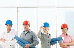 建筑师愉快的小组 免版税库存照片