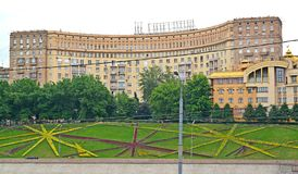 建筑师房子在夏日 莫斯科,Rostovskaya堤防,5 库存图片
