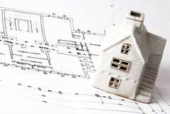 建筑师房子计划 免版税库存图片