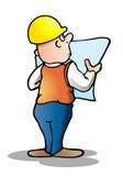 建筑师数据库计划 库存图片