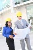 建筑师有吸引力的建造场所 免版税库存照片
