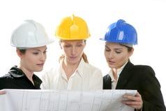 建筑师查出工作室妇女工作 免版税库存图片