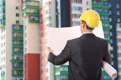 建筑师背面图 免版税图库摄影