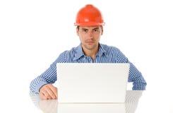 建筑师膝上型计算机开会 免版税图库摄影
