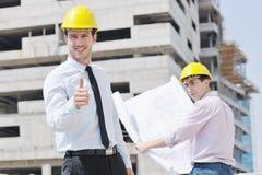 建筑师construciton站点小组 免版税库存图片
