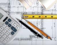 建筑师s工具 免版税库存照片