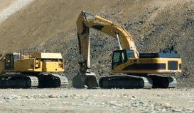 建筑开掘的设备 库存图片