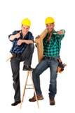 建筑性感的工作者 免版税库存照片