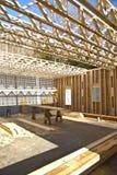 建筑房子新的桁架 库存图片
