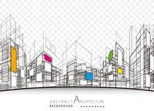 建筑抽象背景 图库摄影