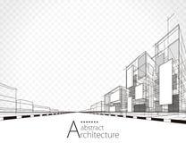 建筑抽象背景 免版税库存照片