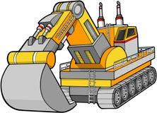 建筑挖掘者向量 库存例证