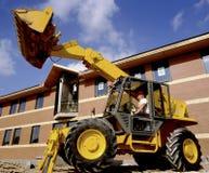 建筑挖掘者站点 免版税库存照片