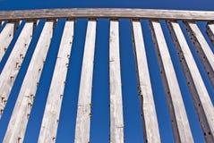 建筑排行木头 库存图片