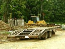 建筑搬运工拖车 库存照片