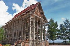 建筑新的寺庙 免版税库存照片