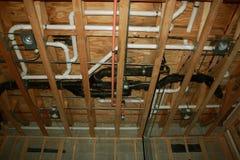 建筑新的管道 免版税库存照片