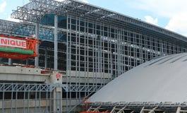 建筑是进行中在Bangsue盛大驻地 库存照片