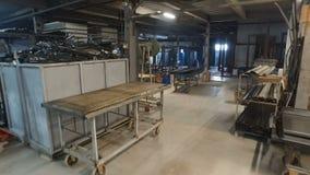 建筑材料仓库,后勤学概念,房子的建筑 金属管子,外形,标尺,角落,路轨,a 股票视频