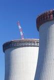 建筑核工厂次幂 库存图片