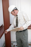 建筑检查员工作 免版税库存照片