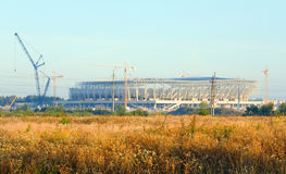 建筑橄榄球lviv体育场乌克兰 库存图片