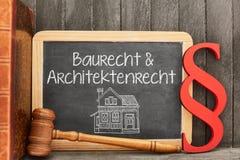 建筑法律&建筑法律的专家律师 免版税库存照片