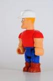 建筑玩具工作者 库存照片