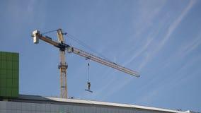 建筑用起重机公寓 影视素材
