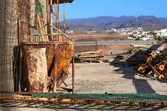 建筑用起重机的建造场所具体桶 库存图片