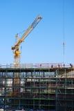 建筑用起重机站点 免版税库存照片