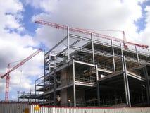 建筑用起重机站点 免版税库存图片