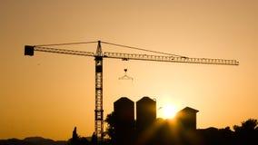 建筑用起重机行业 免版税图库摄影