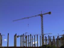 建筑用起重机运行站点 免版税库存照片