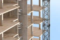建筑用起重机 免版税库存照片