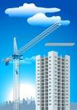 建筑用起重机 库存例证